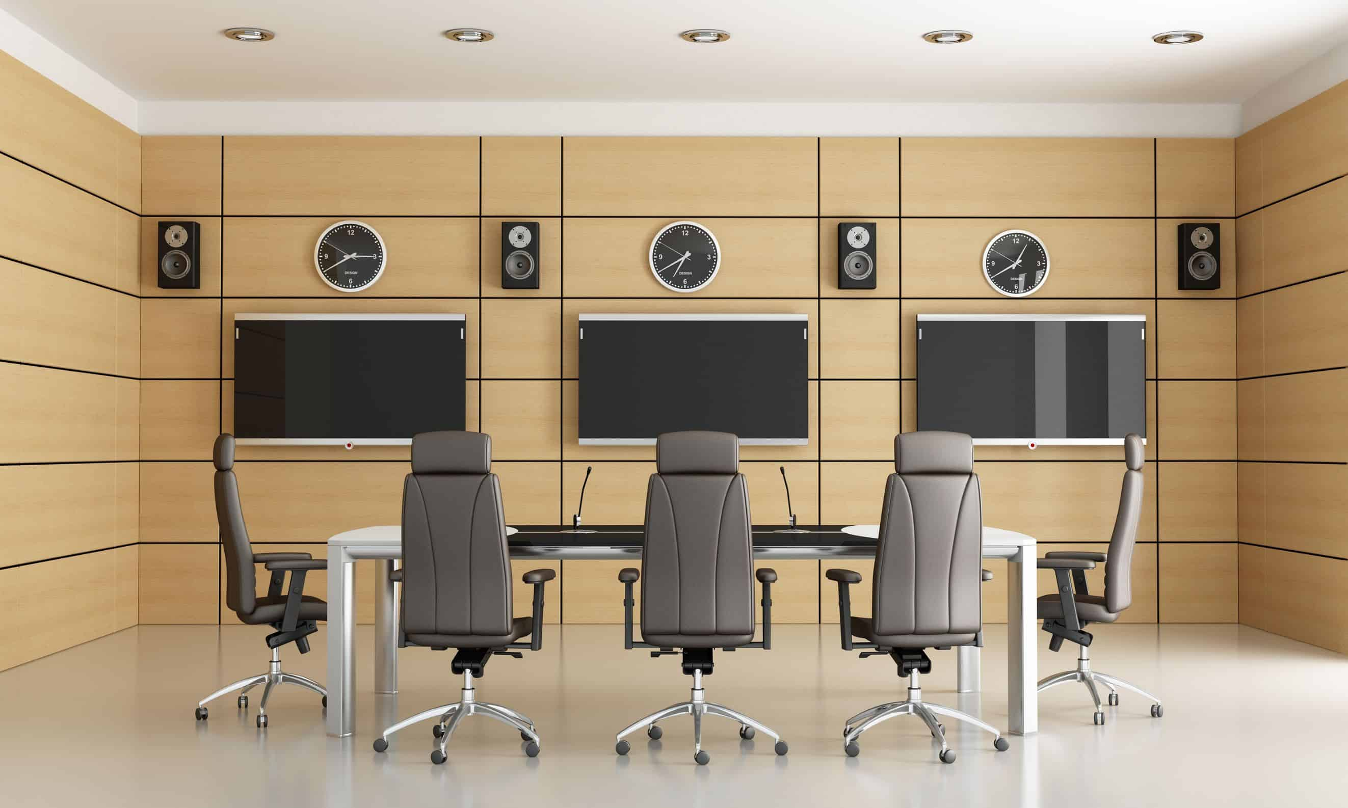 12759668 - conference room for video conference - rendering